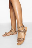 Thumbnail for your product : boohoo Wide Fit Double Plait Sandal