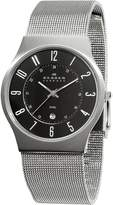 Skagen Men's C233XLSSM Steel Black Dial Mesh Bracelet Watch