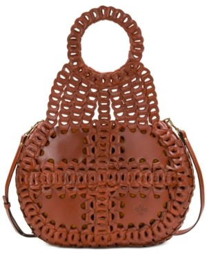 Patricia Nash Pisticci Chainlink Leather Shoulder Bag