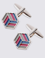 M&S Collection Flat Knot Cufflinks