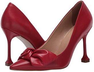 Massimo Matteo Bow Pointy Toe Pump (Red) Women's Shoes
