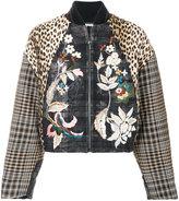 Antonio Marras patchwork bomber jacket