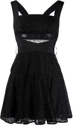Self-Portrait Mini Lace Dress