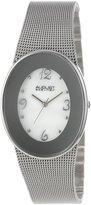 August Steiner Women's AS8053SS Quartz Oval Mesh Bracelet Watch