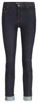 HUGO BOSS Slim-fit jeans in rinse-washed dark-blue denim