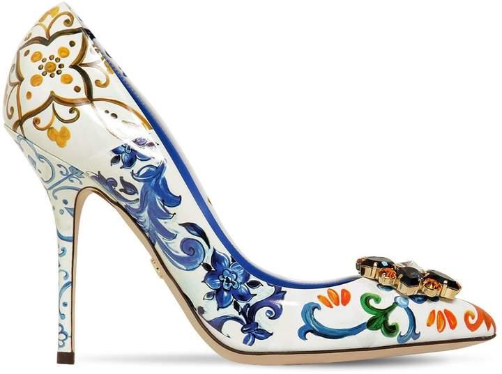 Dolce & Gabbana 90mm Bellucci Patent Leather Pumps