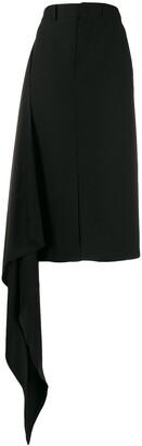 Ami Paris Draped Side Straight Skirt