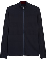 Ps By Paul Smith Navy Fine-knit Cotton Cardigan