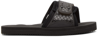 Suicoke Black Siv Sandals