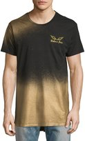 Robin's Jeans Metallic-Ombre Elongated Logo T-Shirt