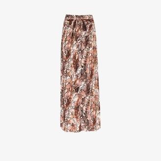 Melissa Odabash Elsa Snake Print Maxi Skirt
