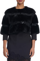 Gorski Clarissa Mink Fur Jacket with Swarovski Crystals