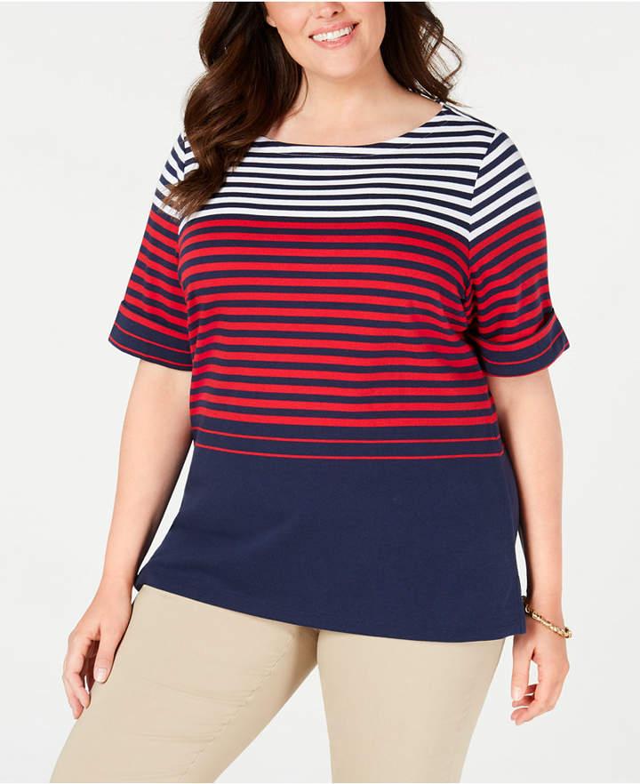 e2152736 Karen Scott Blue Plus Size Tops on Sale - ShopStyle