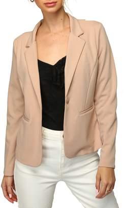 Olivia Pratt Notch Collar Blazer Jacket