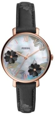 Fossil Women's Jacqueline Black Leather Strap Watch 36mm