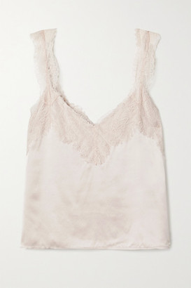 CAMI NYC The Brandice Lace-trimmed Silk-charmeuse Camisole - Beige