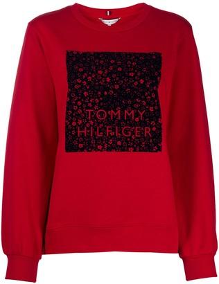 Tommy Hilfiger graphic-print long-sleeved sweatshirt