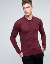 Asos Knitted Polo in Muscle Fit
