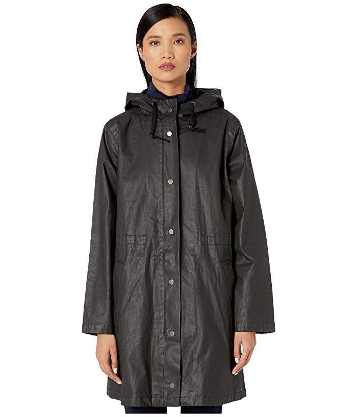Eileen Fisher Waxed Organic Cotton Stretch Twill Hooded Coat