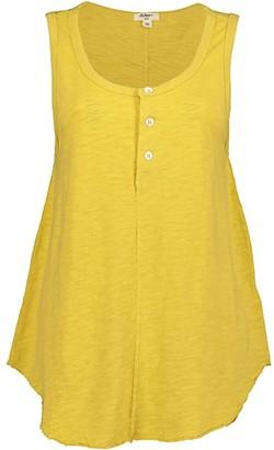 Dylan by True Grit Soft Slub Cotton Button Tank Top (White) Women's Clothing