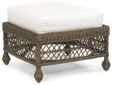 The Well Appointed House Vineyard's Cushioned Wicker Ottoman in Variety Colors