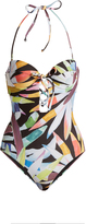 Mara Hoffman Marimba-print lace-up swimsuit