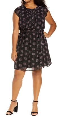 Daniel Rainn Print Shift Dress