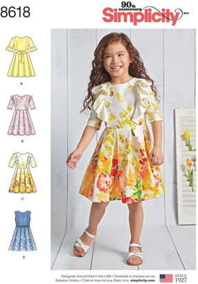 Simplicity Children Dresses Sewing Pattern, 8618