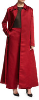 The Row Neyton Long Silk Satin Coat