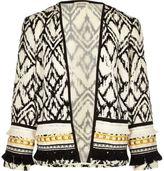 River Island Girls White embellished kimono jacket