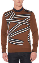 Perry Ellis Ribbon Crew Sweater
