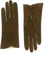 Barneys New York Women's Deerskin Gloves-Green