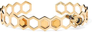 Delfina Delettrez 9-karat Gold Multi-stone Cuff