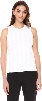 Theory Women's Sleeveless Knit Fringe Shell
