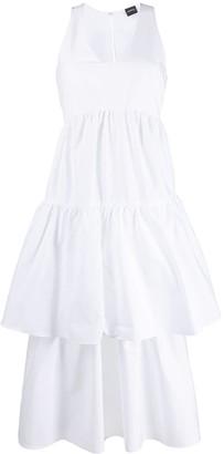 Aspesi tiered sleeveless dress