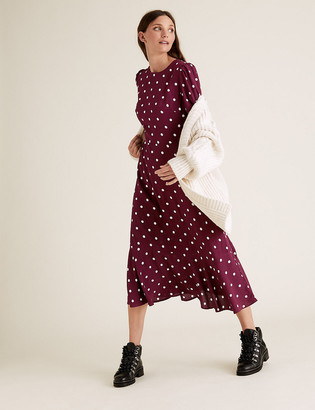 Marks and Spencer Polka Dot Midi Skater Dress