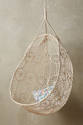 Anthropologie Knotted Melati Hanging Chair By in White