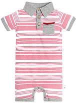 Baby Faux Twill Striped Organic Cotton Shortall