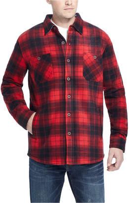 Weatherproof Vintage Men Fleece-Lined Plaid Shirt Jacket