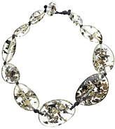 Jackie Brazil Flintstone Seaweed Necklace, Clear