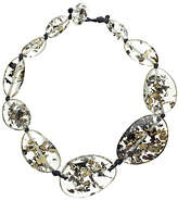 Jackie Brazil Riverstone Seaweed Short Necklace, Clear