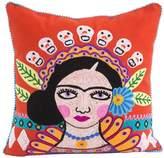 Karma Living Red Mujer con Muchos Buenos Pensamientos Throw Pillow