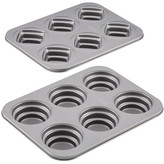 Cake Boss Novelty Nonstick Bakeware 2-Piece Round & Square Stacked Cakelette Pan Set