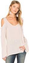 Bella Dahl Cold Shoulder V Neck Blouse