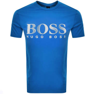 HUGO BOSS Boss Business UV Protection Logo T Shirt Blue
