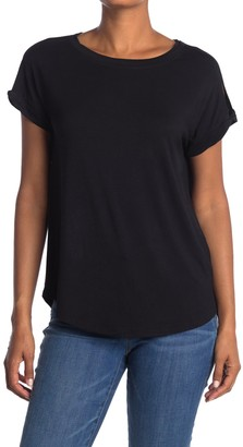H By Bordeaux Crew Neck Twisted Cuff T-Shirt