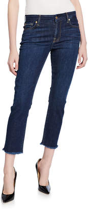 7 For All Mankind Kimmie Cropped Frayed Jeans