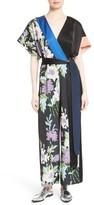 Diane von Furstenberg Women's Faux Wrap Silk Jumpsuit