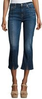 7 For All Mankind Cropped Boot-Cut Jeans W/ Seams & Front Splits, Indigo