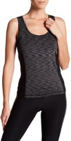 Central Park West Multicolor Marled Print Performance Tank